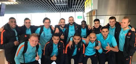 Zaalvoetballers Lahcen Bouyouzan en Oualid Saadouni van FC Eindhoven in Oranje
