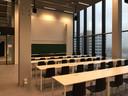 Een collegezaal in het vernieuwde hoofdgebouw Atlas van de TU Eindhoven.