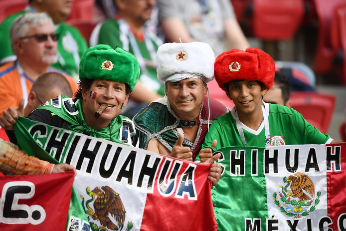 Supporters van Mexico.