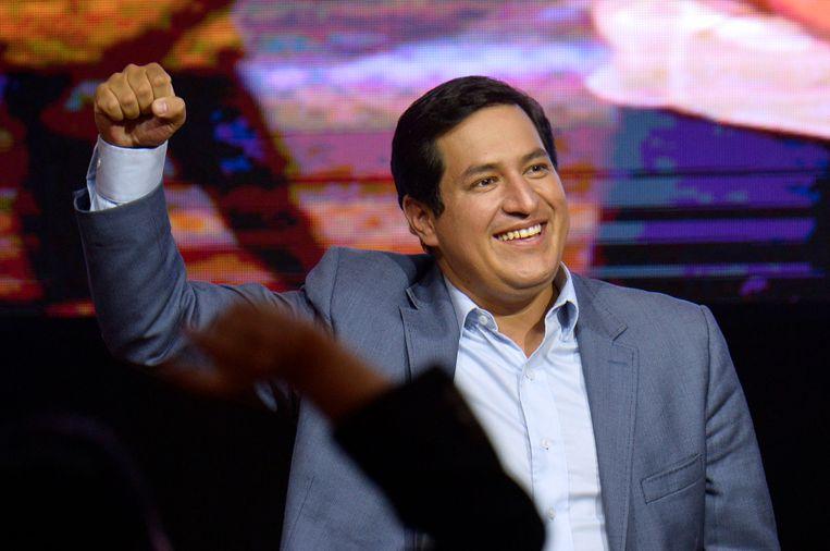 Andres Auraz kreeg in de eerste ronde de meeste stemmen. Beeld AFP