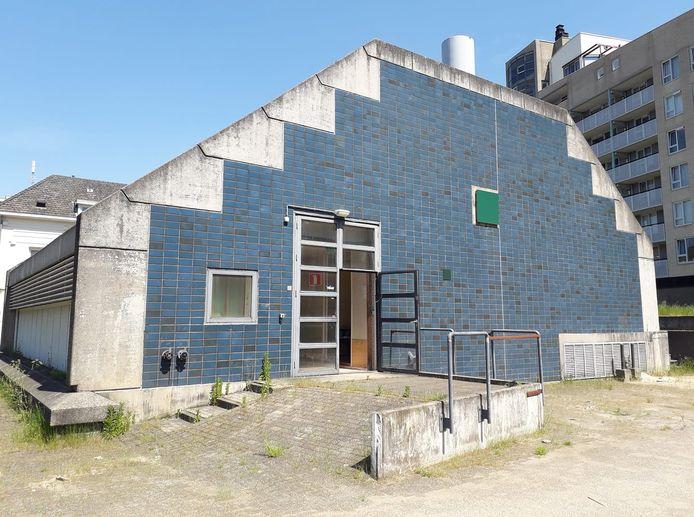 Het voormalige pomphuisje van Vitens aan de Nieuwe Marktstraat.