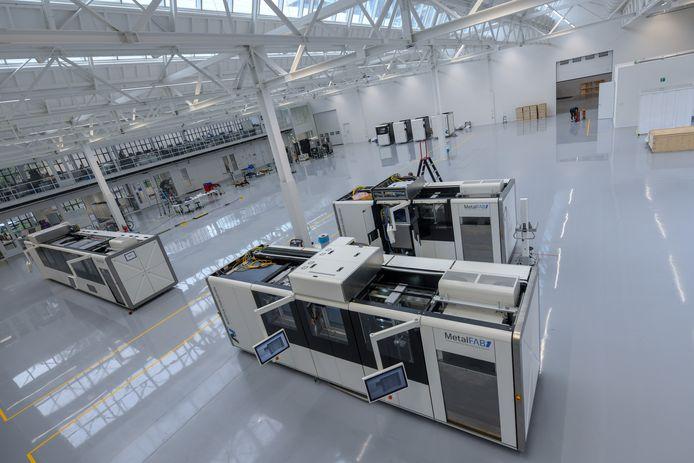 De productieruimte van Additive Industries op Strijp-T in Eindhoven.