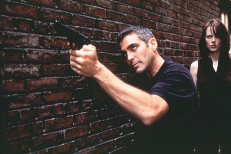 George Clooney en Nicole Kidman in The Peacemaker. Beeld
