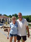 Petra Karman en Mark van Wissen, zij runnen in Frankrijk een camping.