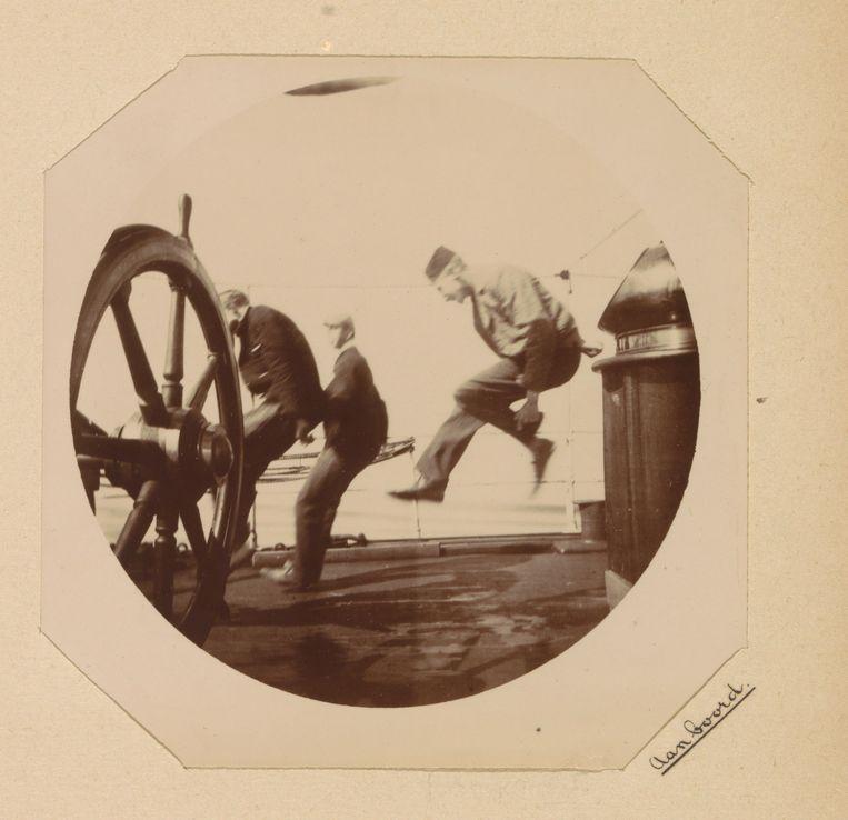 Aan boord, Willem Frederik Piek, ca. 1892 - ca. 1893. Beeld Rijksmuseum