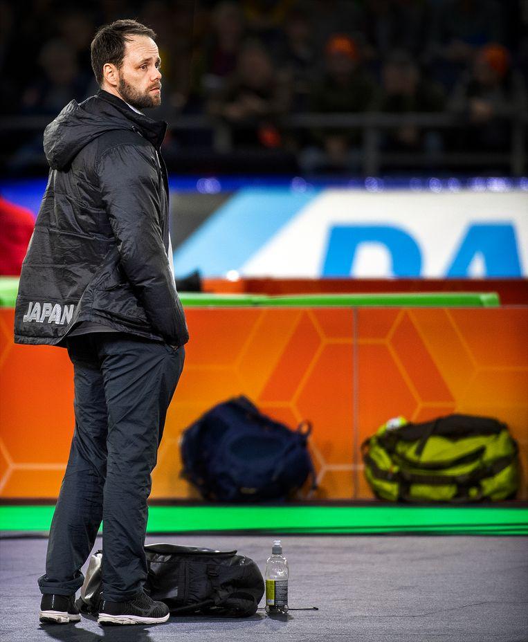 Johan de Wit, de Nederlandse coach van Japan. Beeld Klaas Jan van der Weij