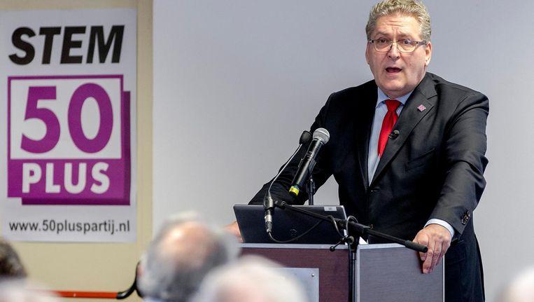 Lijsttrekker van 50Plus Henk Krol. Beeld anp