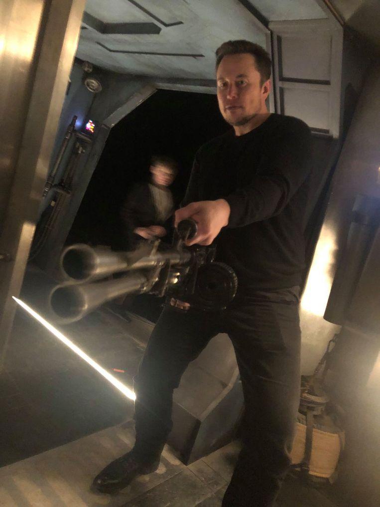 Elon Musk speelde zichzelf in 'Iron Man 2'. Beeld rv