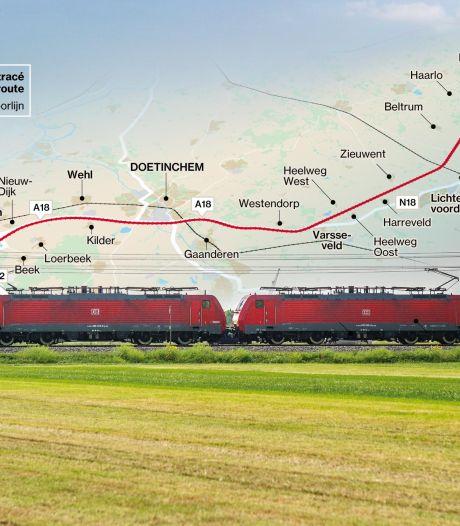 Havenlobby wil nieuwe goederenspoorlijn die vanaf Arnhem door Achterhoek loopt in regeerakkoord