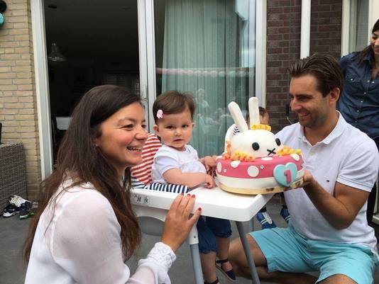 Sara op haar eerste verjaardag
