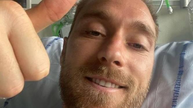 """Christian Eriksen post eerste bericht uit ziekenhuis: """"Ik voel me goed, gezien de omstandigheden"""""""