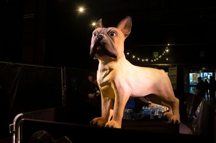 Naast dit beeld passeerde de echte Franse buldog Billie dit weekend ook op 'zijn' festival.