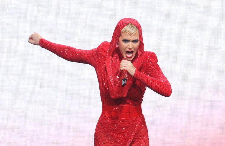 Katy Perry begint haar nieuwste single Swish, Swhish met een sample van Fatboy Slim in een poging het nummer zo herkenbaar mogelijk te maken.  Beeld Photo News