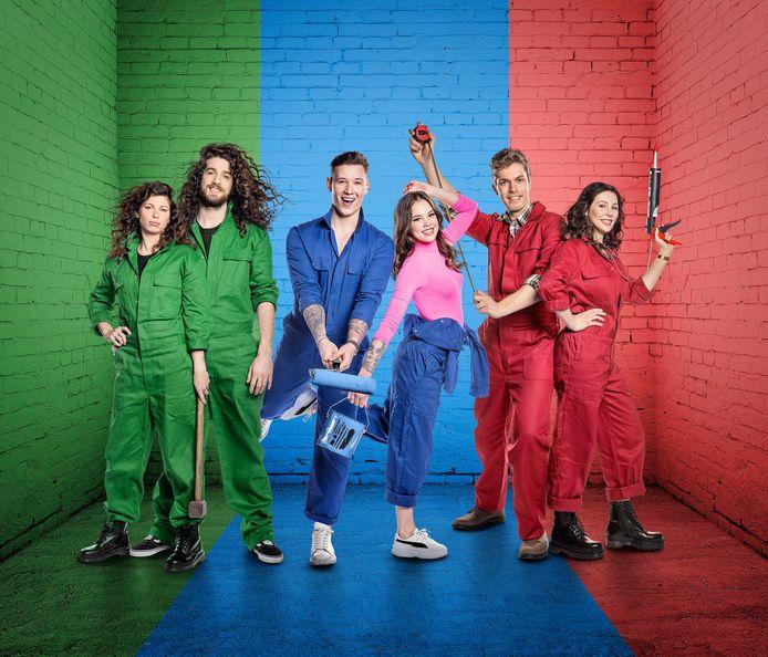 Harry & Jerina, Kenny & Amber en Ruben & Antje strijden verder om een droomwoning in 'Huis Gemaakt'.