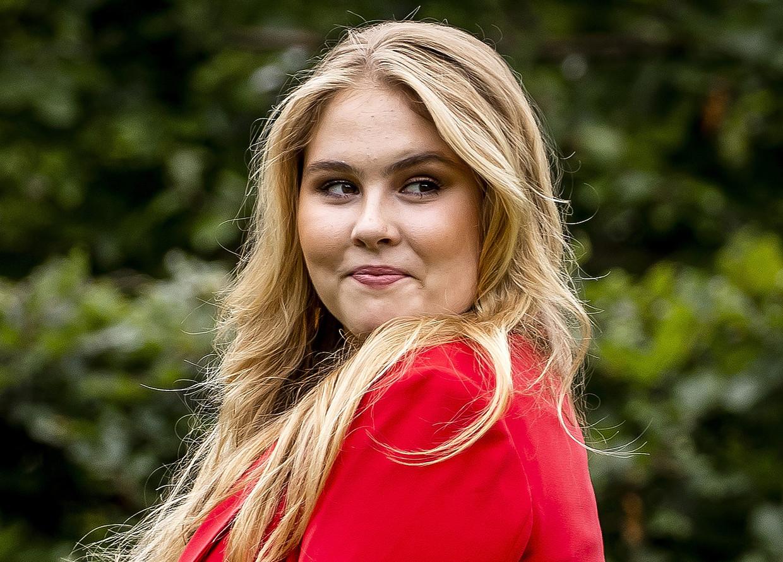 Kroonprinses Amalia, tijdens een fotosessie afgelopen juli. Beeld ANP