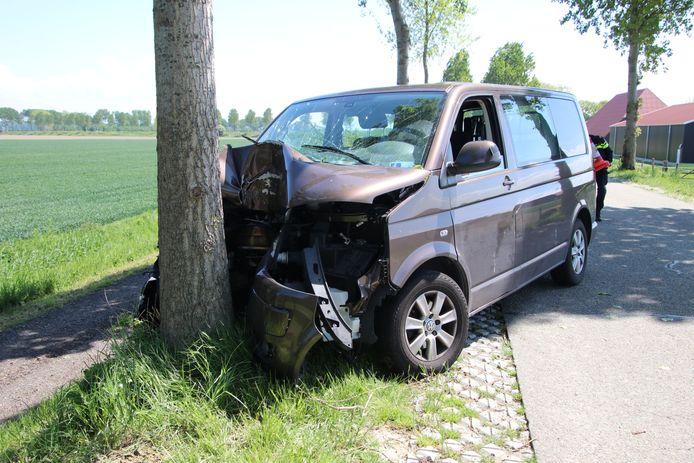 De vrouw raakte gewond bij het ongeval.