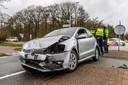 Ongeluk op de kruising van de Vijf Eikenweg met de Ketenbaan in Oosterhout in februari van dit jaar.