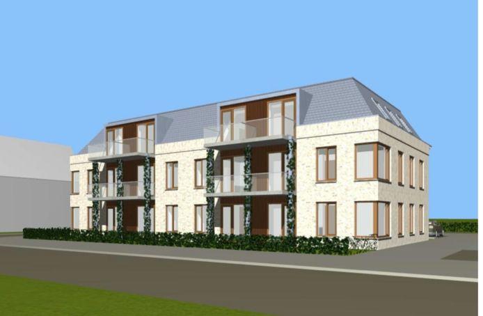 """Een impressie van het appartementencomplex dat is bedacht voor de Dorpsweg 23 in Hattem. ,,Maar niets is nog definitief"""", zegt ontwikkelaar Gert Huizenga."""