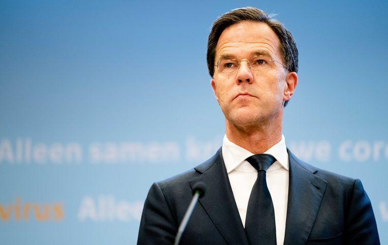 Premier Mark Rutte lichtte de beslissing toe tijdens een persconferentie.