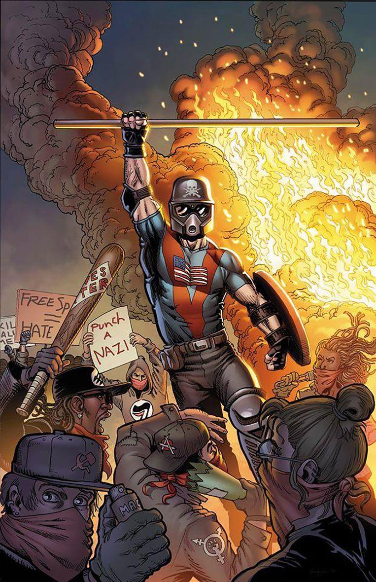 De cover van 'Based Stickman' van Mike Baron en Brent R. Smith Beeld rv