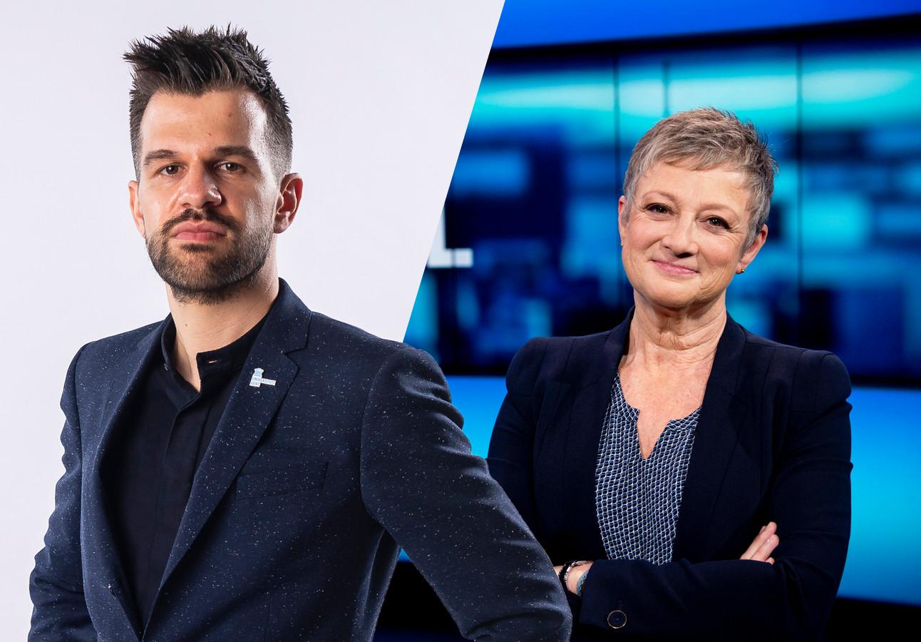 Arbeidseconoom Stijn Baert, en Martine Tanghe.