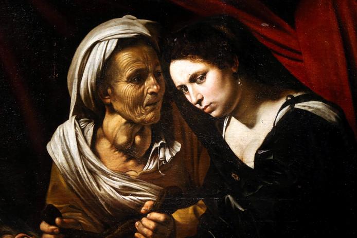 Een detail van het werk: Judith met haar dienster Abra.