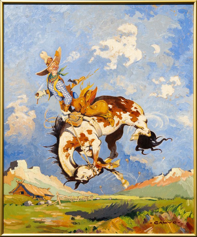 Springend paard. Beeld Pauline Niks