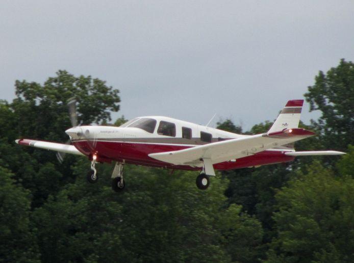 Het vliegtuigje - niet op de foto - was een Piper.