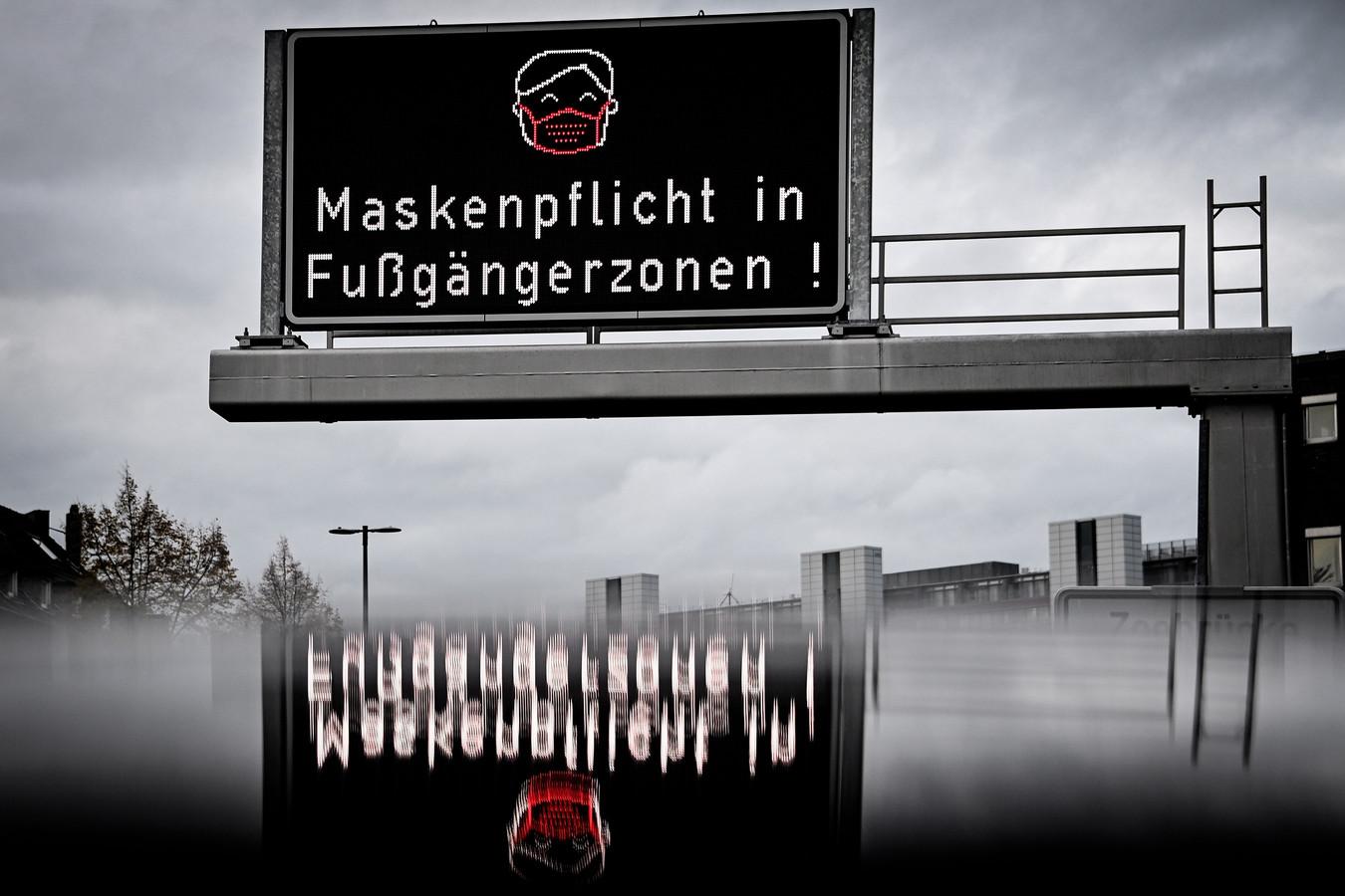 Mondkapjes zijn verplicht in het centrum van Keulen.
