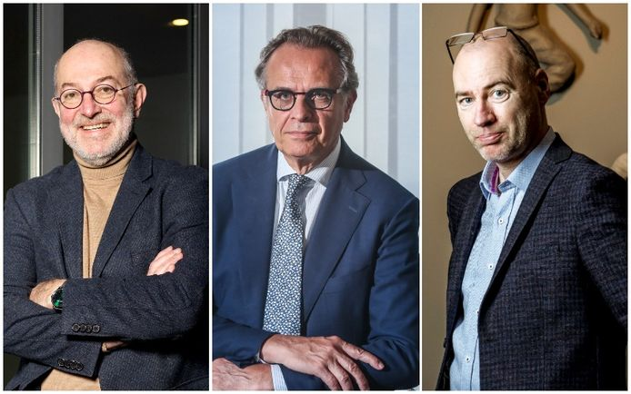 V.l.n.r. experten Pierre Van Damme, Xavier De Cuyper en Dirk Ramaekers.