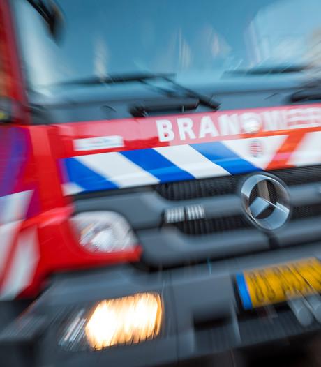 Auto vat vlam op brug in Zutphen