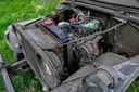 De motor van Floris zijn legervoertuig.