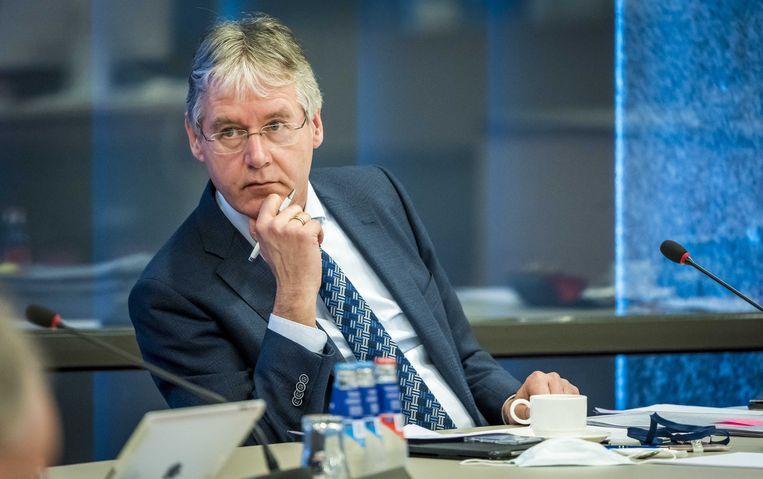 Minister Arie Slob van onderwijs maandag in de Tweede Kamer tijdens het debat over het onderwijs en het coronavirus.  Beeld ANP - Lex van Lieshout
