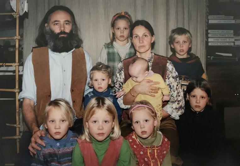 Het gezin van vader Gerrit Jan van D. werd in oktober 2019 ontdekt in een boerderij in Ruinerwold. Beeld BNNVara