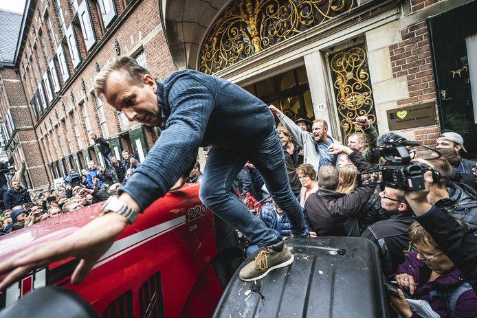 Het boerenprotest in Groningen liep in oktober stevig uit de hand.