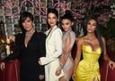 Kris Jenner, Kendall Jenner, Kylie Jenner en Kim Kardashian.