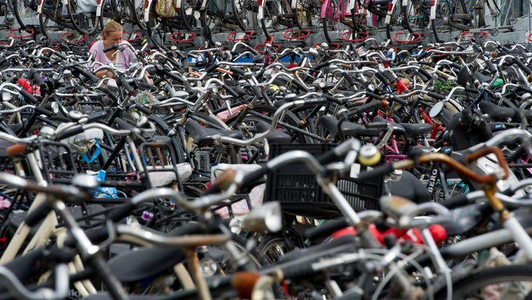 Makelaar Jerry Geldhof zag mogelijkheden in de fietsenchaos rondom Amsterdam Centraal Beeld anp