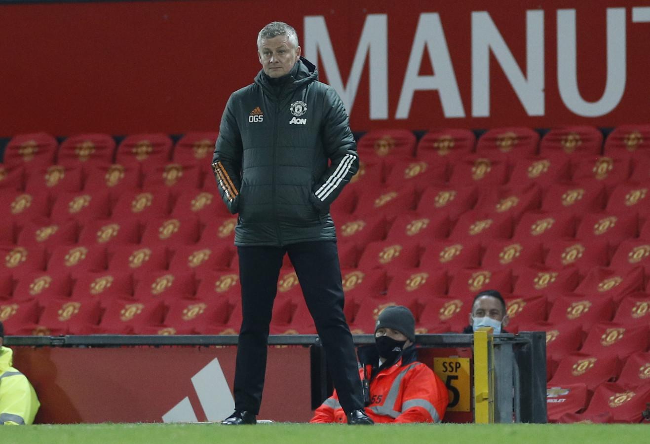 Trainer Ole Gunnar Solskjaer van Manchester United.