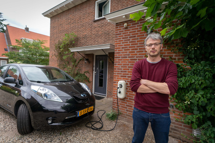 David Berg heeft veel duurzaamheidsmaatregelen in zijn huis in Arnhem getroffen.