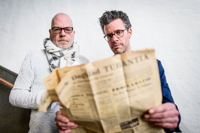 Opnames documentaire over leven 'verzetsheld' dominee Leendert Overduin. Met verteller Erik Dijkstra en initiatiefnemer Willy Berends.