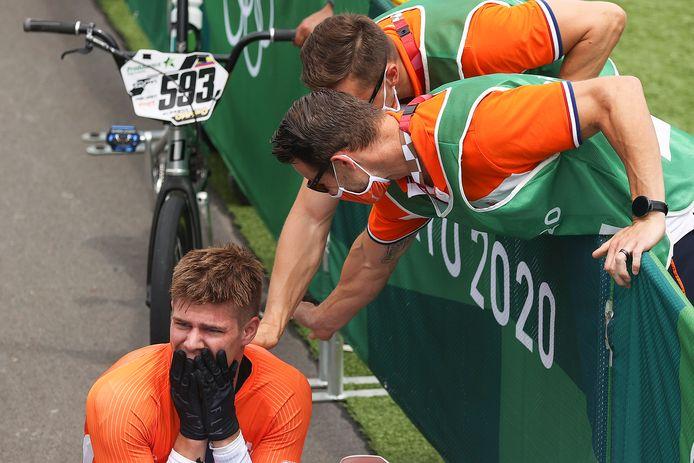 Niek Kimmann kan het nog niet geloven: hij is olympisch kampioen.