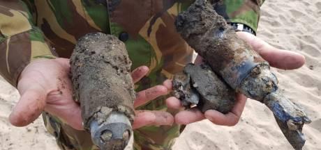 Mortiergranaten gevonden op Waalstrand
