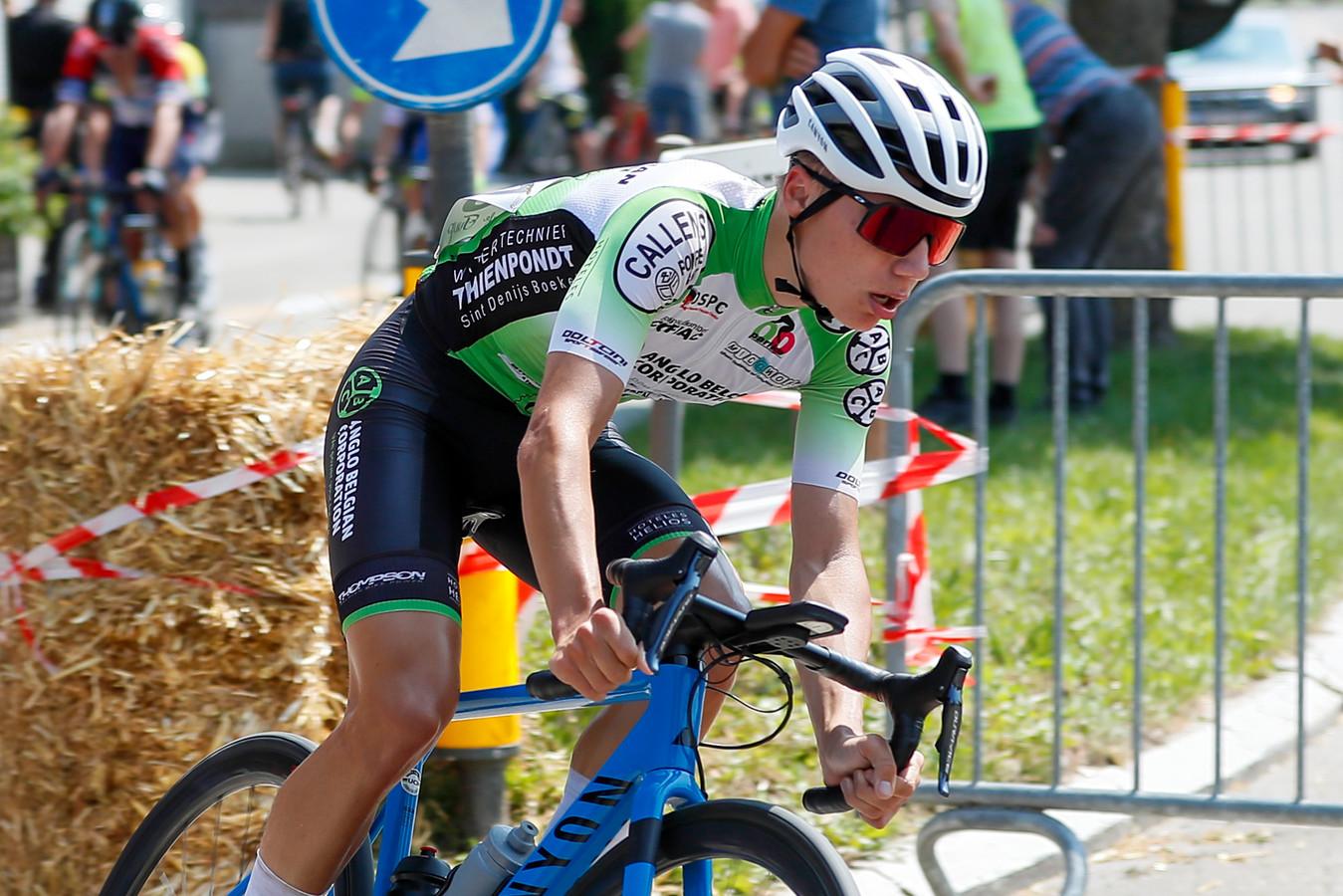 Erembodegemnaar Gilles Van Roy begint in Liedekerke met goeie parcourskennis aan het BK voor tweedejaarsnieuwelingen.