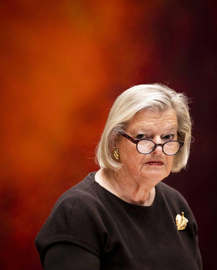 Ankie Broekers-Knol, staatssecretaris van Justitie en Veiligheid, tijdens een vragenuur in de Tweede Kamer.