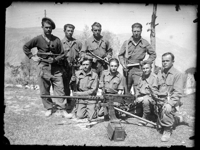 Partizanen waren een allegaartje van nationaliteiten: dit zijn Russen.