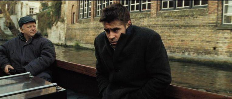 Colin Farrell vermaakt zich niet geweldig op de reitjes in de film 'In Bruges' (2008). Beeld RV