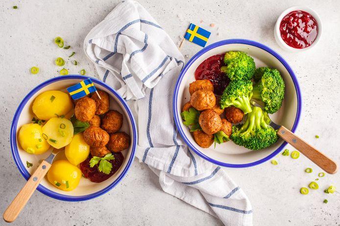 De bekende Zweedse gehaktballetjes van Ikea.