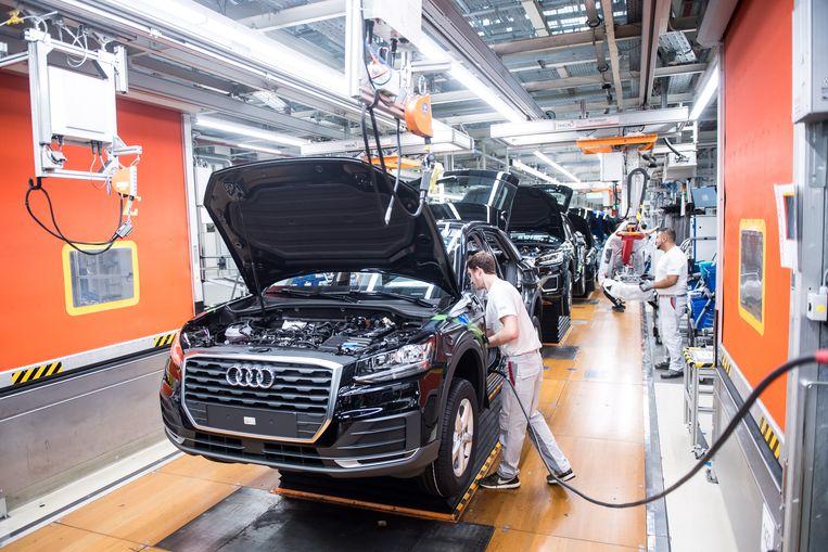 Een Audi-fabriek in Ingolstadt. Beeld EPA