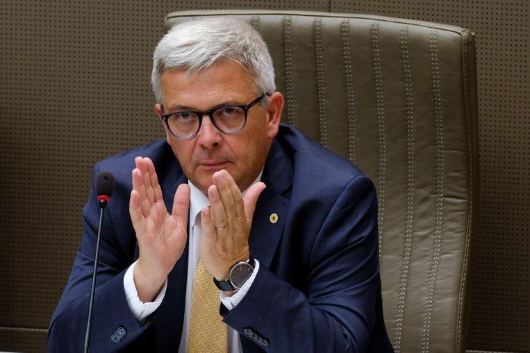 Parlementsvoorzitter Kris Van Dijck (N-VA). Beeld BELGA
