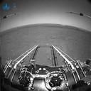 Op de foto's van de Chinese Marsverkenner is de afrit van het landingsplatform te zien.